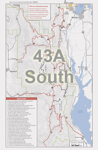 Trail Map - 43A - South